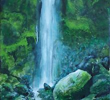 Woodland Waterfall by MARTISTIC