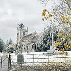 Snow at Claines church by Lissywitch