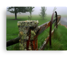 Barriers and mist Canvas Print