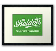 Team Sheldon Framed Print