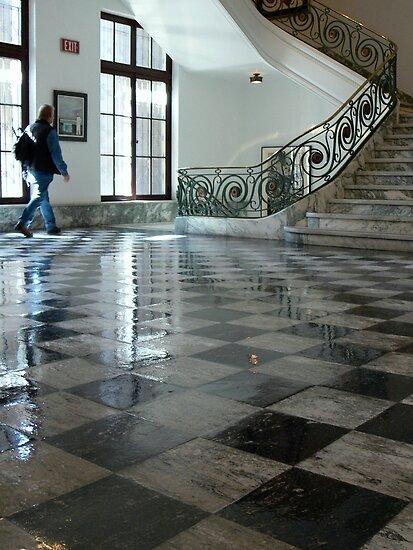 Checkerboard floor by LjMaxx