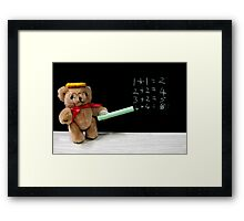 Teacher Ted Finally gets his Sums Right Framed Print