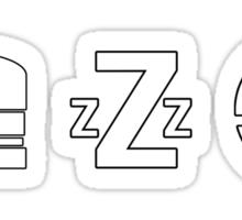 Eat Sleep Smash (Smash Bros) Sticker