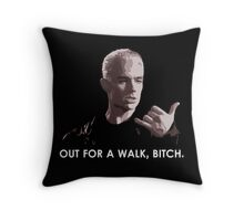 Spike, out for a walk - light font (TSHIRT) Throw Pillow