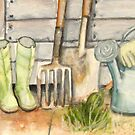At the Garden Shed by Claudia Dingle