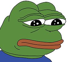 SAD FROG PEPE by HarrySlimane