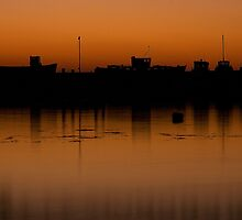 Harbour at Dusk by Kirsty Hodge