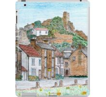 Graphite and Coloured Pencil Drawing of  Richmond, Yorkshire - all products bar duvet iPad Case/Skin