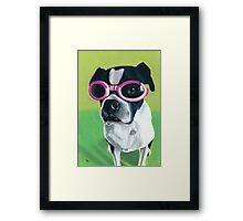 Boston Terrier in Goggles Framed Print