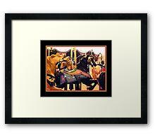 Santa Monica Carousel - Abstract Framed Print