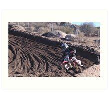 Motocross - In for the ride!  Cahuilla Creek MX - Vet X Racing Series (146 Views as of 5-9-2011) Art Print