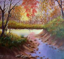 Autumn Reflections - Painting by SharonD
