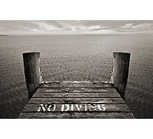 No Diving Photographic Print