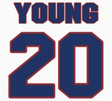 National baseball player Curt Young jersey 20 by imsport