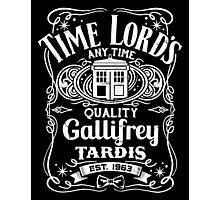 Doctor Who Time Lord's Quality Gallifrey Tardis Distressed Design Photographic Print