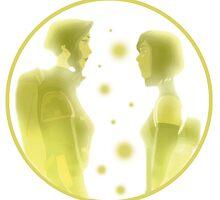 Korra and Asami by AquaDuelist