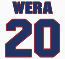 National baseball player Julie Wera jersey 20 by imsport