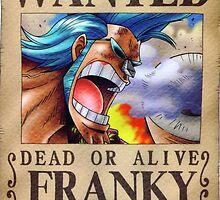 WANTED ! Franky - One Piece by Laredj