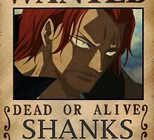 WANTED ! Shanks - One Piece by Laredj