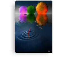 Floating Spheres Canvas Print
