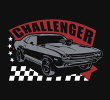 Dodge Challenger | Grey - Red - White by GTOclothing