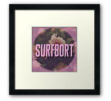 Beyonce Surfbort Surfboard Funny Floral Design Framed Print