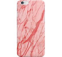 Pink marble stone iPhone Case/Skin