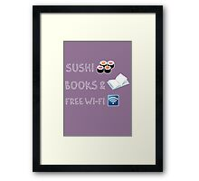 Sushi, books and free wi-fi Framed Print