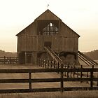 Barn at Sunset by Kristie King
