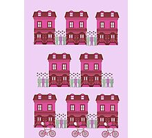 My Town-Pink Photographic Print