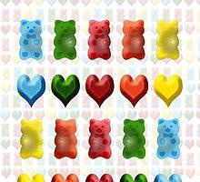 Gummy Bears, Jelly Hearts by Carol Vega