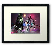 Christmas Olaf Frozen Framed Print