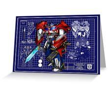 Beast Hunters Optimus Prime  Greeting Card