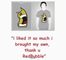 i love u redbubble hehe  by hmmmbates