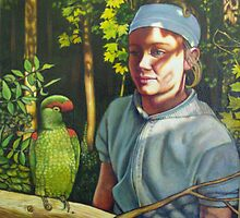 Girl with a Parrot by Eleanor Day