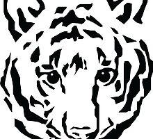 Tiger Black and White by BL-Airbrush