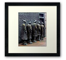 Waiting in the Soup Kitchen Line Framed Print