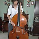 Josh practising the Double Bass  by lettie1957