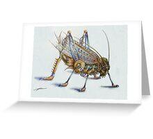 Metal Grasshopper Greeting Card