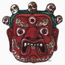 Tibetan Mahakala Mask by Vinko