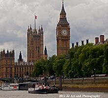 England - Big Ben from Thames by jezebel521
