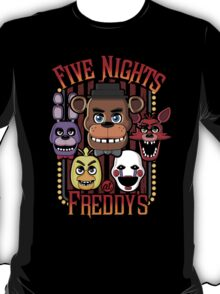 Five Nights At Freddy's Pizzeria Multi-Character T-Shirt