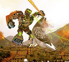 ColumbiformicdOvezolo -vs- The New Karachi Kickbot in the Northwest Frontier Province by Kenny Irwin