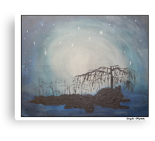 A Night Under the Willow Tree Canvas Print