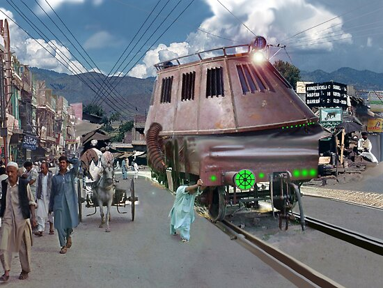 It takes someone with raw Pakistani Power to move this Sky Elevator Train with their bare hands by Kenny Irwin