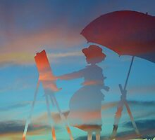 The Wind Rises Naoko painting by AMPEE