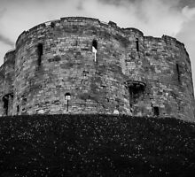 Clifford's Tower, York, England by Nicole Petegorsky