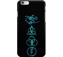 NEW DESIGN - Ancient Pagan Symbols (V) - Shiny Teal iPhone Case/Skin