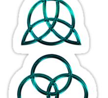 NEW DESIGN - Ancient Pagan Symbols (V) - Super Shiny Teal Sticker