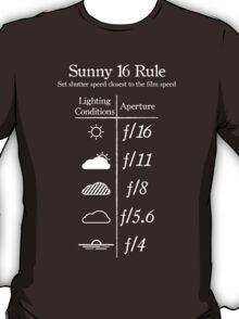Sunny 16 Rule - White T-Shirt